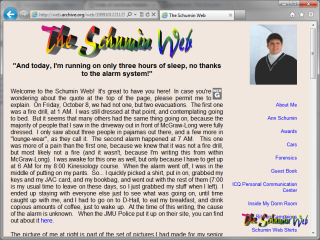 1999 design main page, with tan background