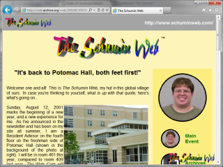 2001 design, main page