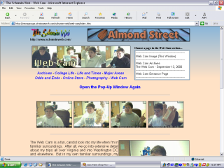2003 design, Web Cam section