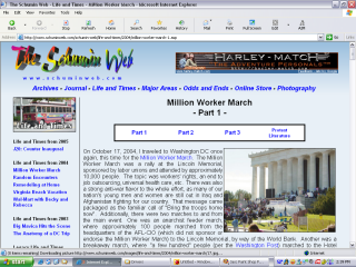 2004 design, Million Worker March photo set in Life and Times