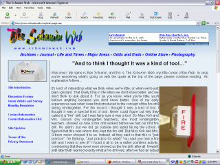 2004 design, Main Page showing quote