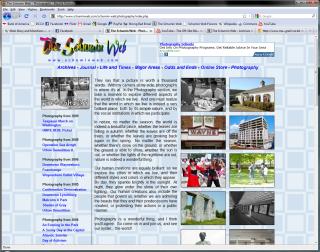 2008 design, Photography main page