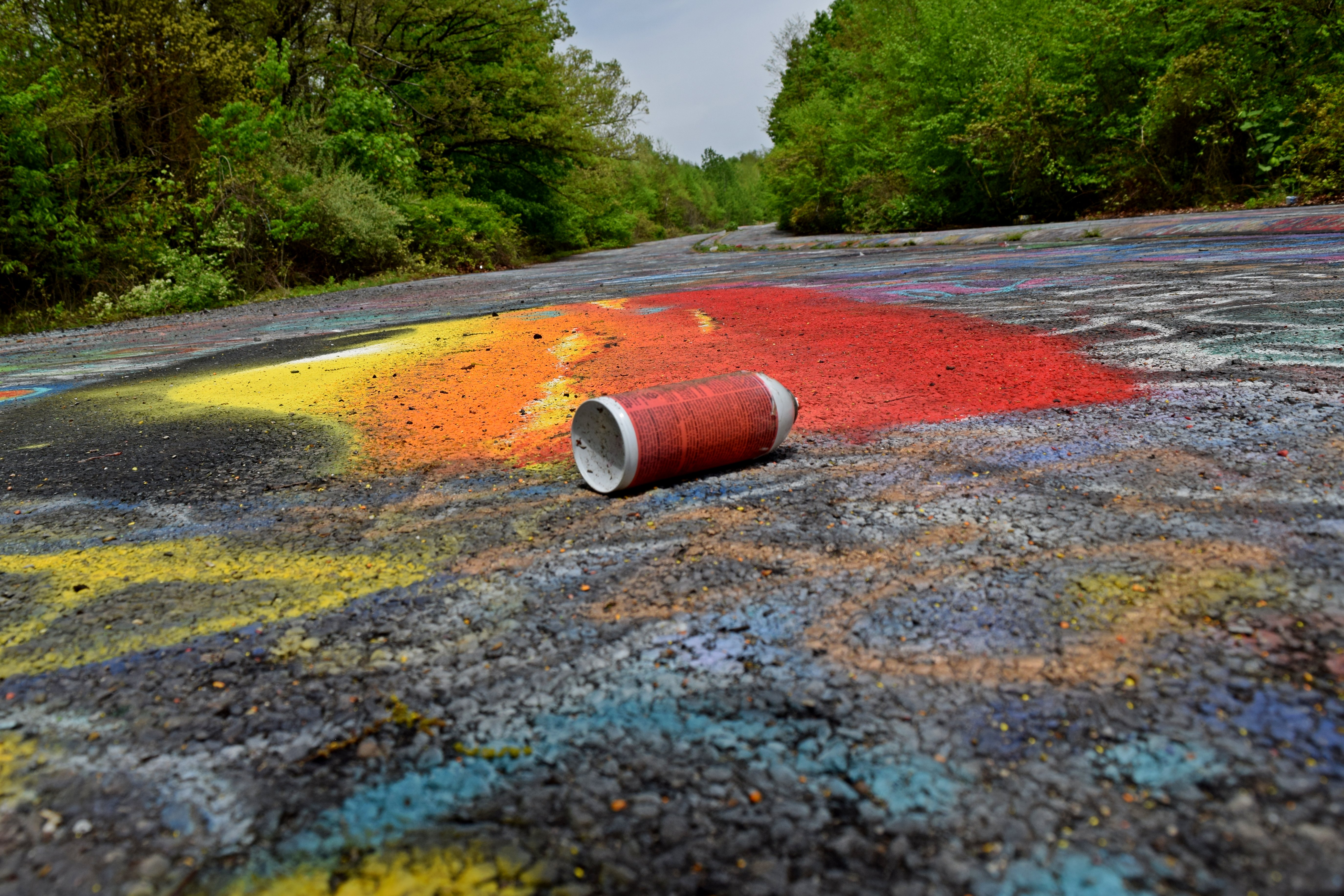 Discarded Can Of Spray Paint On The Graffiti Highway