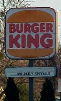 Burger King sign in Newport News, Virginia
