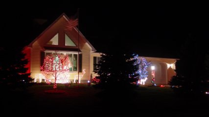 Christmas lights in Stuarts Draft, Virginia
