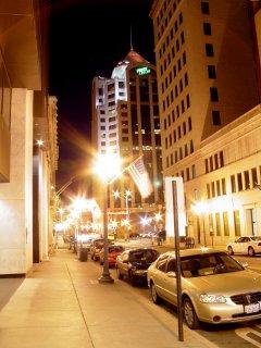 Downtown Roanoke, Virginia at night