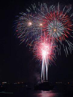 Fireworks over San Diego