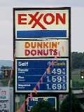 Exxon station in Staunton, Virginia