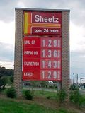Sheetz station in Staunton, Virginia