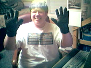 Wearing gloves in the air-conditioned room