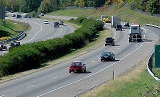 Interstate 81 through Harrisonburg, Virginia
