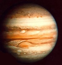 Jupiter as seen fron one of the Voyager craft