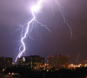 Lightning over Pentagon City, Virginia