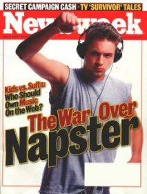 Newsweek cover about Napster