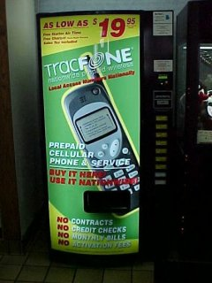 Cell phone vending machine