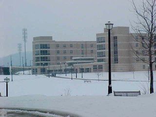 Potomac Hall in the snow, January 19, 2002