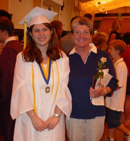 Ann Schumin graduates from Stuarts Draft High School, June 2003