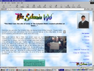 Previous version of Schumin Web, fall 1999 through fall 2000