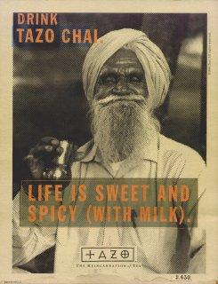 Tazo Chai advertisement