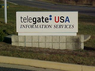 Telegate USA sign in Waynesboro, Virginia