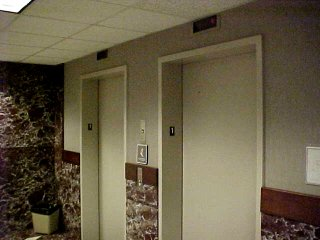 Elevators at Zane Showker Hall
