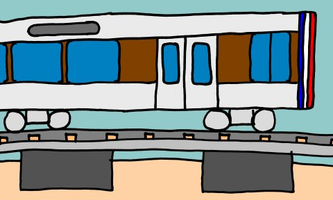 Oversimplified drawing of WMATA floating slabs, as best as I understood them