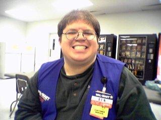 Ben Schumin in the Wal-Mart break room