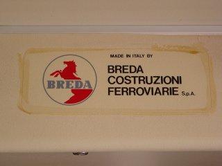 Builder's plate on Breda 4063