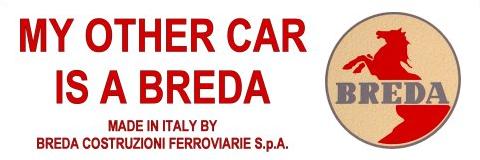"""My Other Car Is A Breda"" bumper sticker"