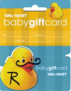 Duck mustache gift card