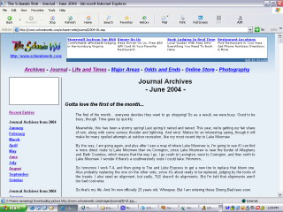 Journal prototype, 2004 redesign
