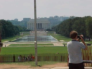 The front side of the Lincoln Memorial, from a distance