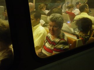 Mom on the train, leaving Rosslyn