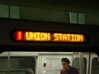 Red Line to Union Station on CAF 5056 on the lower level of L'Enfant Plaza
