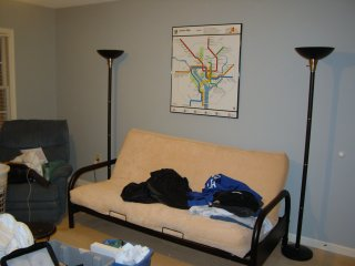 Metro map in place on the wall