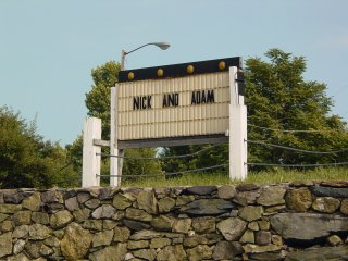 "This was rather mysterious. In my September 2003 photo set, the sign was blank. Now, it says ""Nick and Adam"" on it."