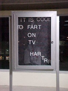 IT IS COOL TO FART ON TV HAR TRR