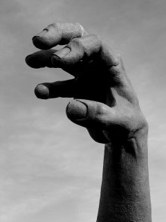 """The Awakening"" hand in black and white"
