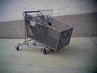 Crushed shopping cart at Wal-Mart in Waynesboro