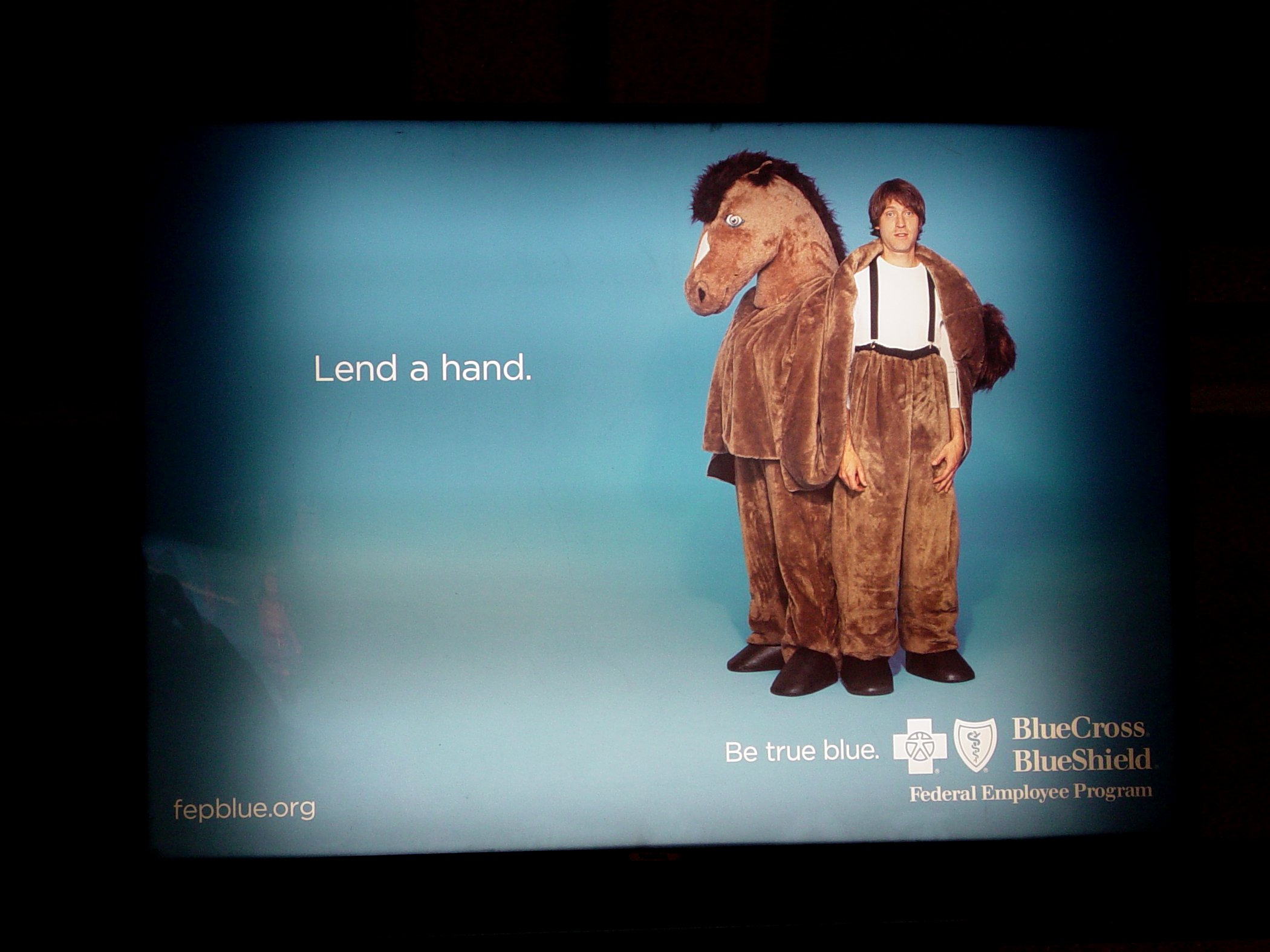 This Advertisement For Blue Cross Just Struck Funny