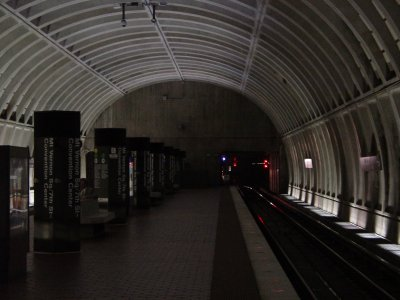 Mt. Vernon Square station a little darker than usual