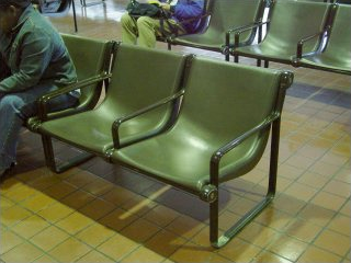 Seats at New Carrollton Amtrak station