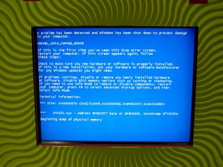 "Windows ""Blue Screen of Death"" at Sheetz in Fishersville"