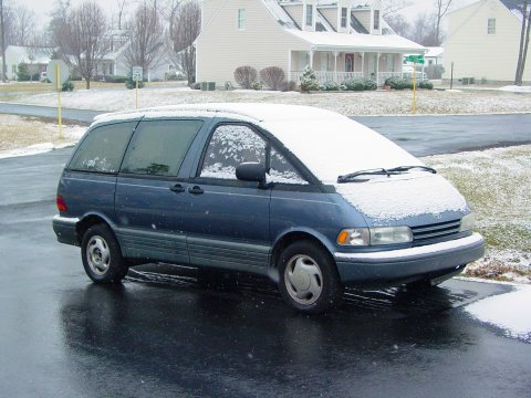 My Toyota Previa, covered in snow