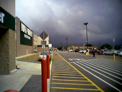 Threatening looking clouds over the Waynesboro Wal-Mart