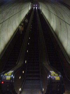 Escalator at Wheaton station