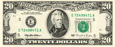 $20 bill, Series 1995