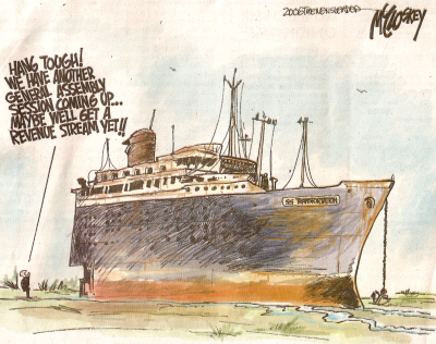 """American Star"" featured in a political cartoon"
