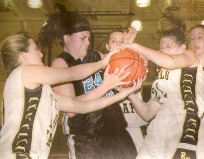 Basketball game photo from The News Leader