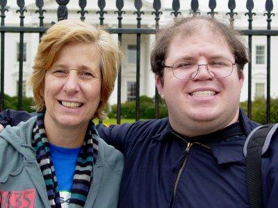 Ben Schumin with Cindy Sheehan